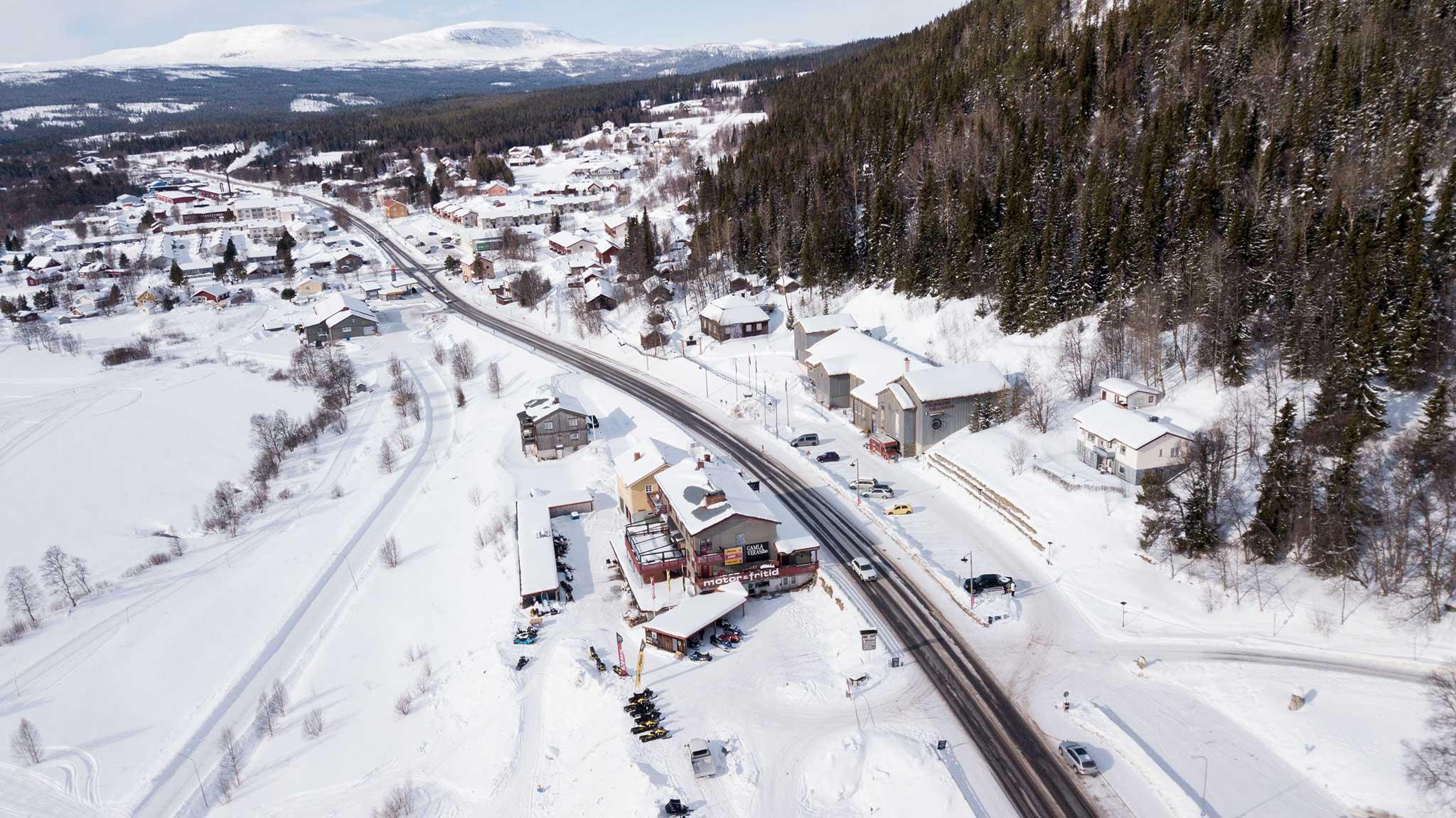 Flygfoto Motor & Fritid i Funäsdalen